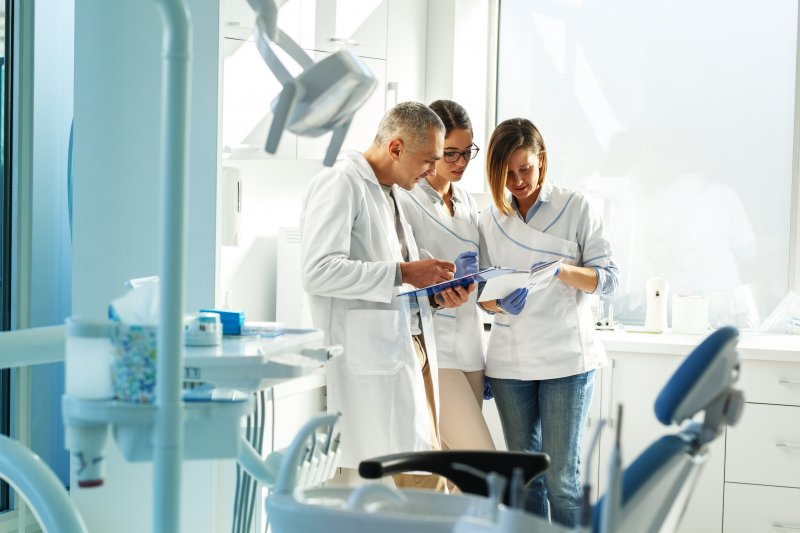 Team of dentists at a multi-specialty practice